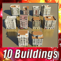 building collections 3d model