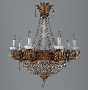 3d model chandelier antique