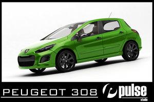peugeot 308 3d model