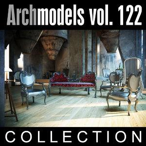 3d model archmodels vol 122 classic furniture