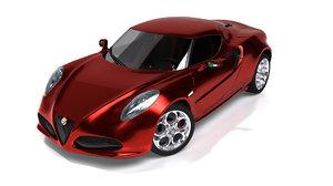 alfa romeo 4c concept 3d lwo