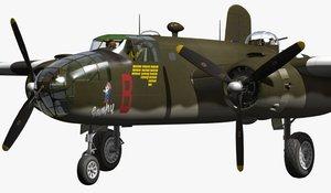 north american b-25 3d model