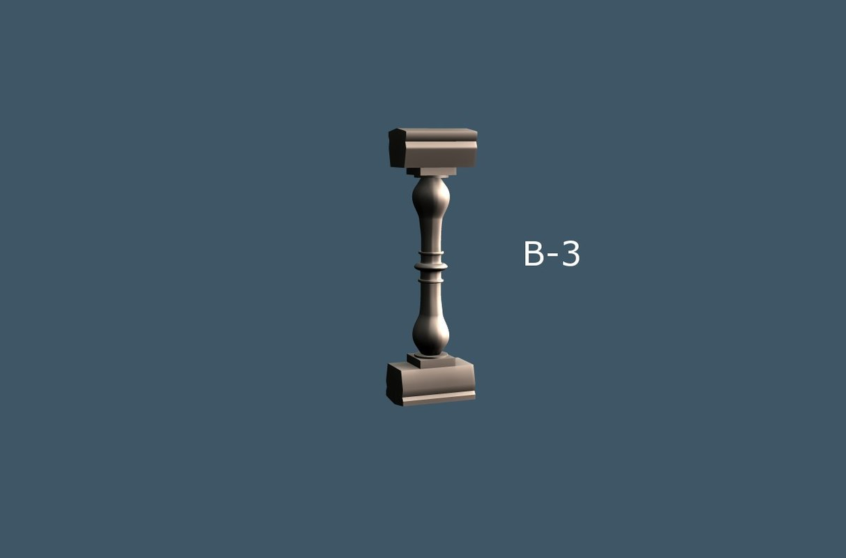 3d balusters interior exterior