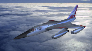 b-58 convair bomber 3d max