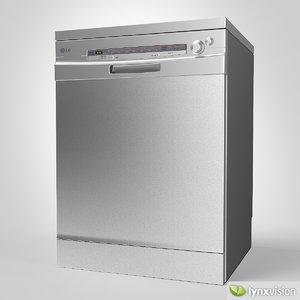 lg dishwasher 3d max