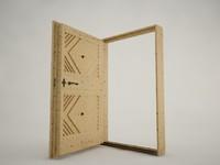 wood door 3d c4d