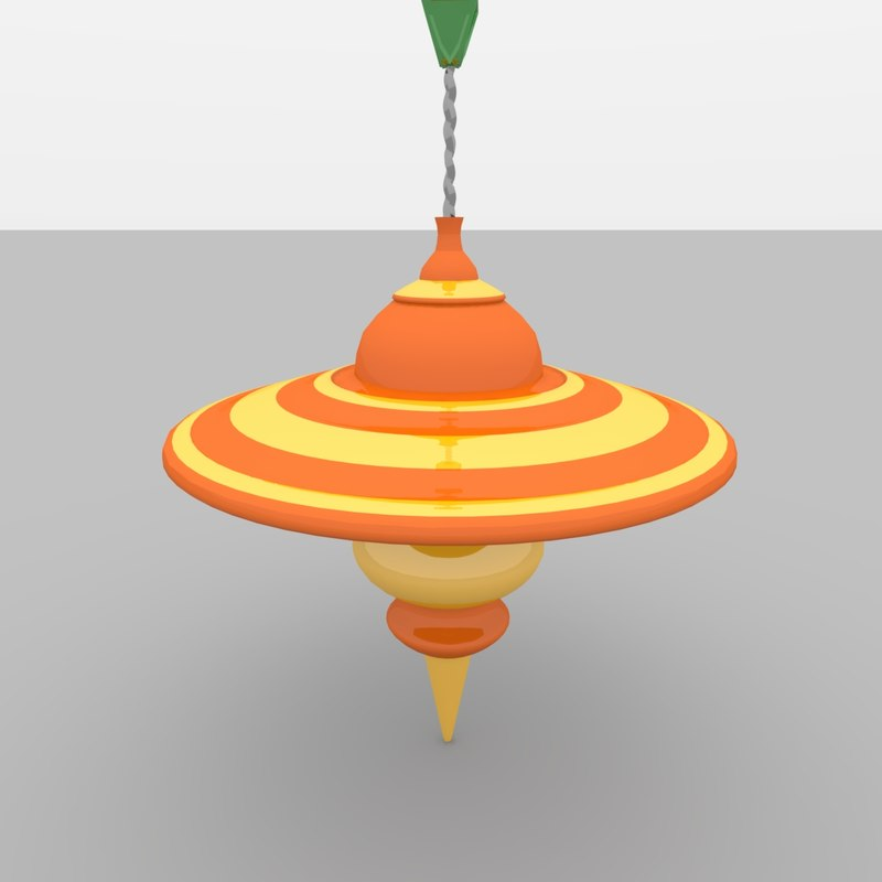 3d model child s toy spinning