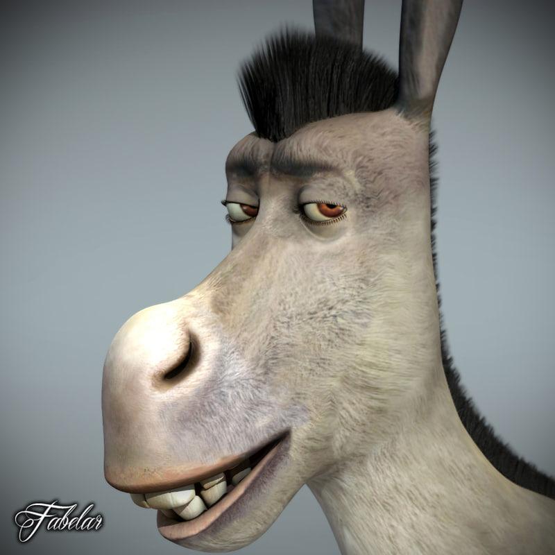 donkey photorealistic motion 3d model