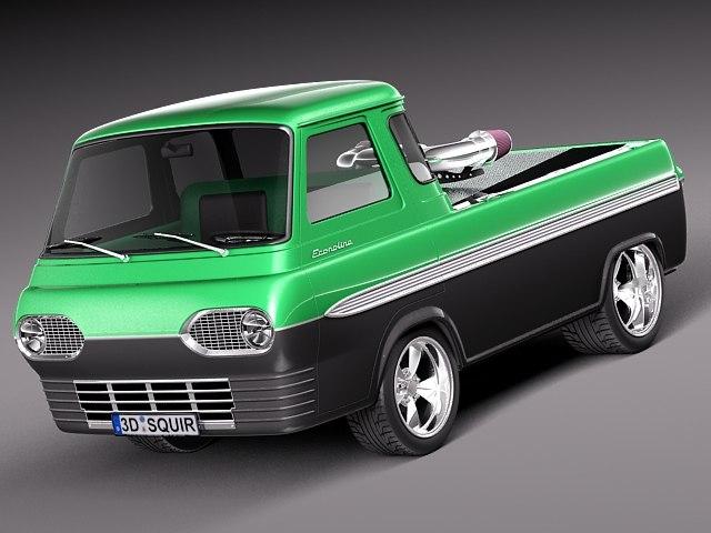 3d model 1965 1967 pickup truck