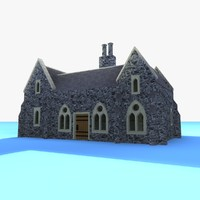 3ds max gothic medieval house