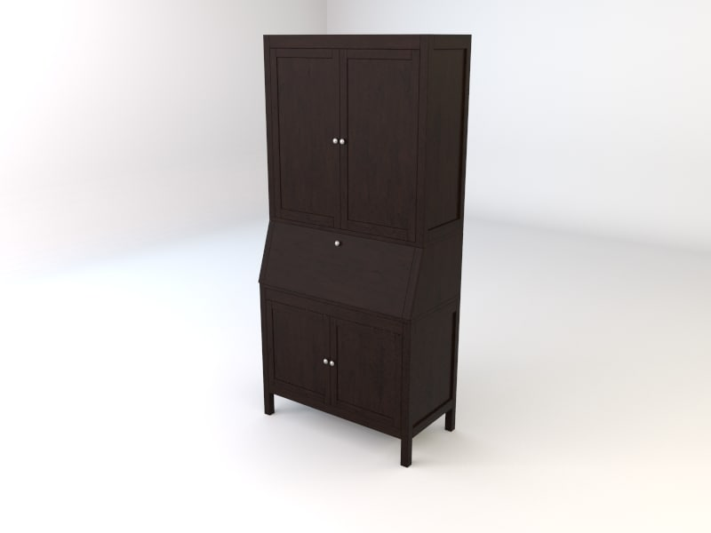 ikea hemnes workstation secretary 3d model