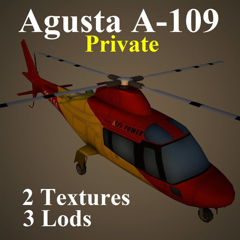 3d agusta pvt helicopter model