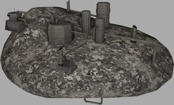 asteroids kece facility 3d model