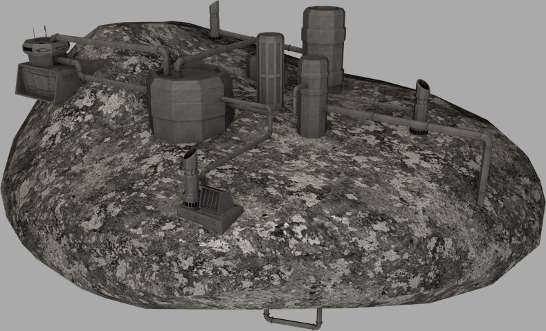 asteroids kece facility 3d model
