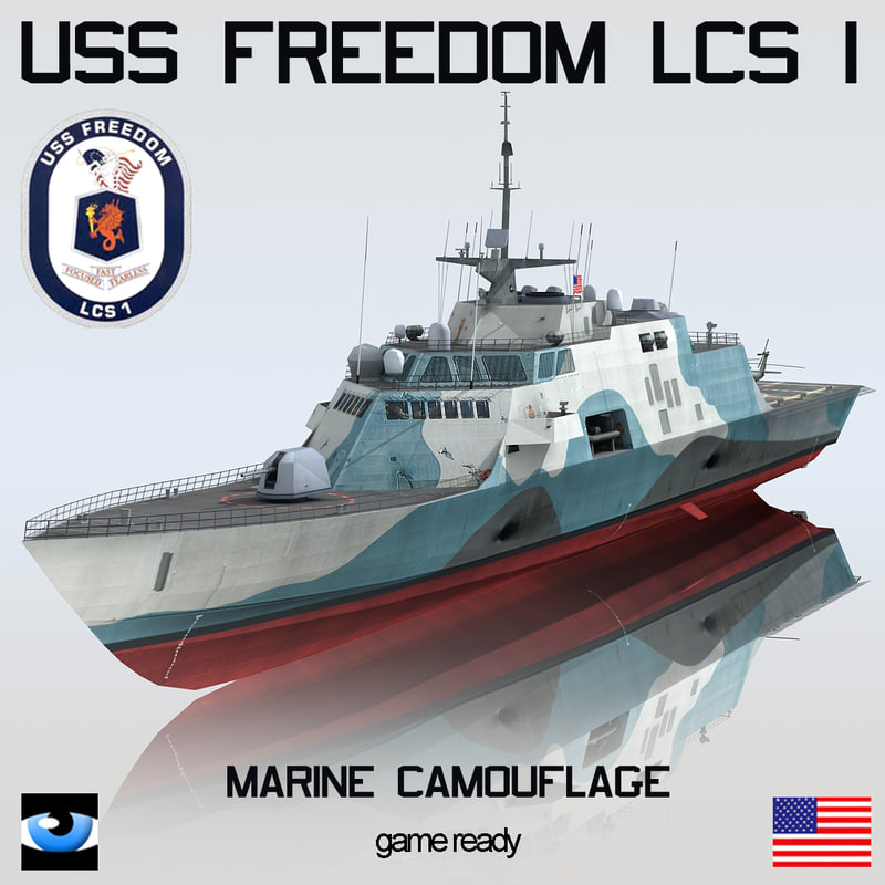 uss freedom lcs 1 3d model