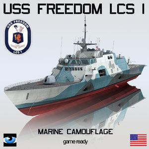 uss freedom lcs 1 3d model