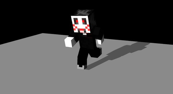 3d minecraft character rigged