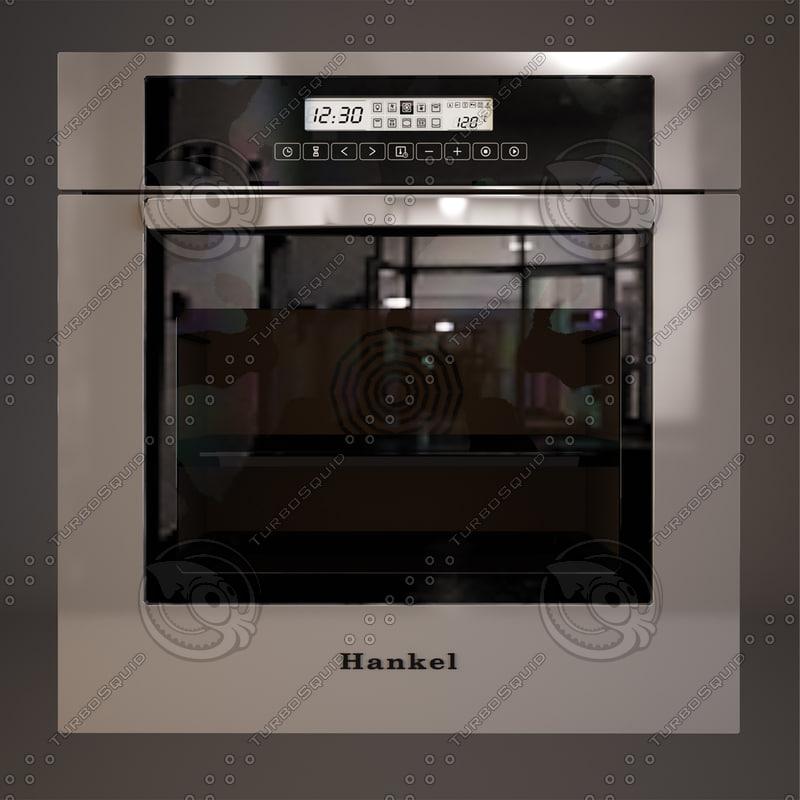 electric oven hankel 3d model