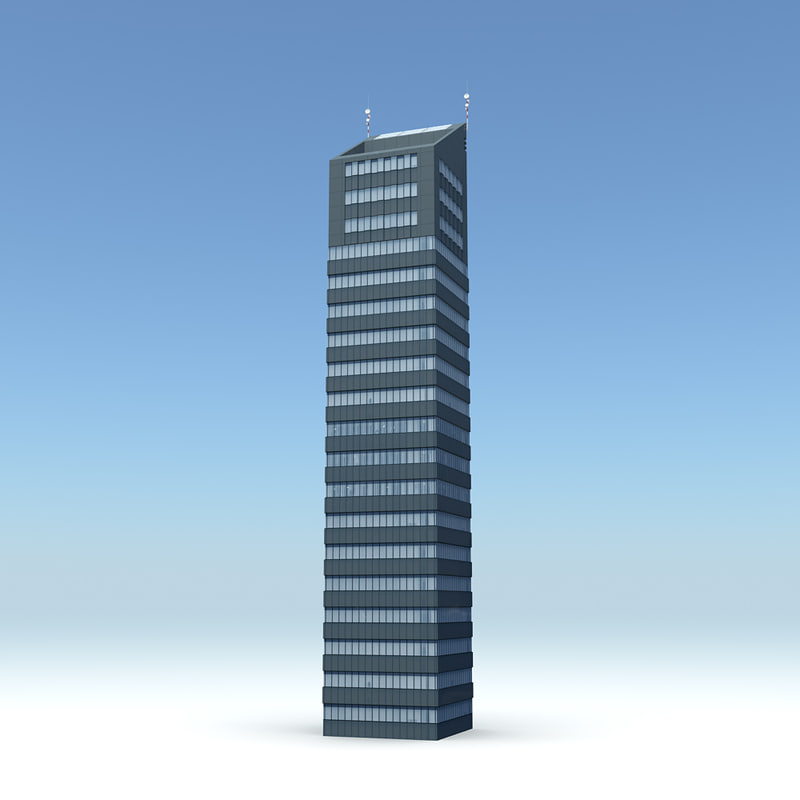 3d model of skyscraper 08 day night