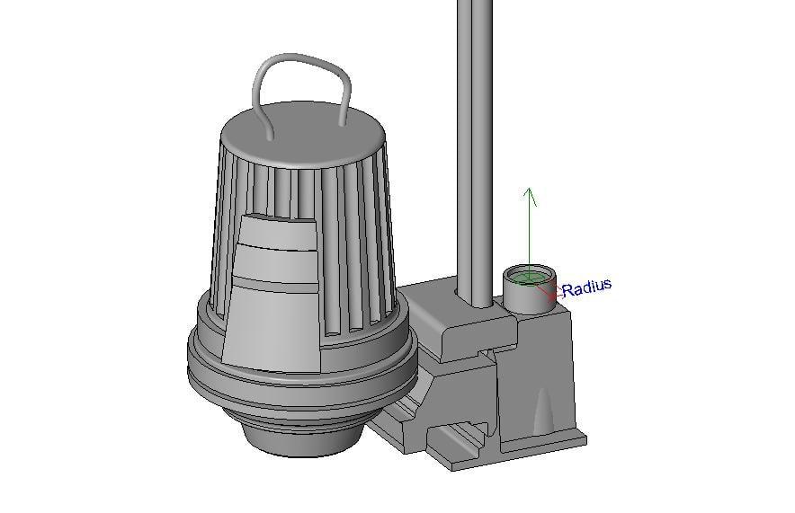 3d model flygt pump
