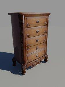 drawer nightstand 3d max