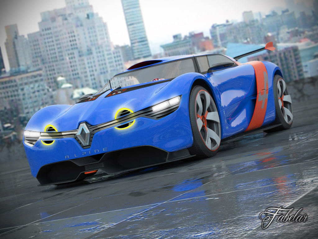 3d model of renault alpine concept a110