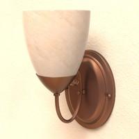 3d model wall light fixture
