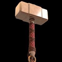3d hammer thor model