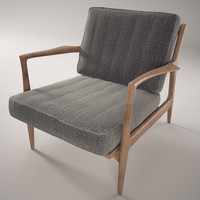selig armchair midcentury chair 3d model