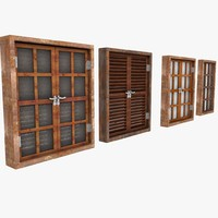 Wooden Window Shutter Frame sill ledge parapet