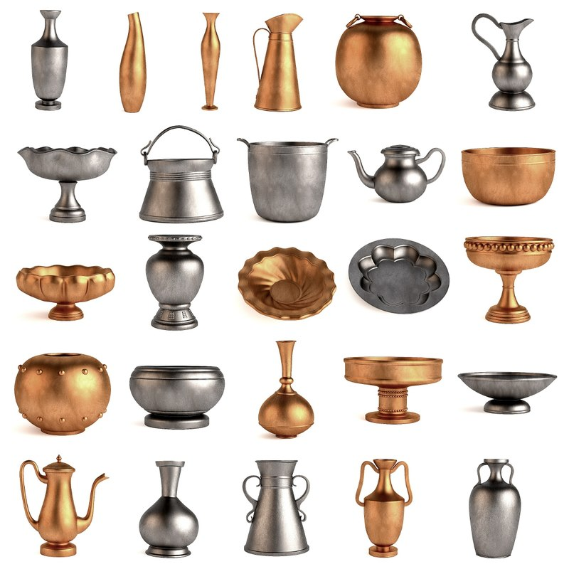 3d antique objects