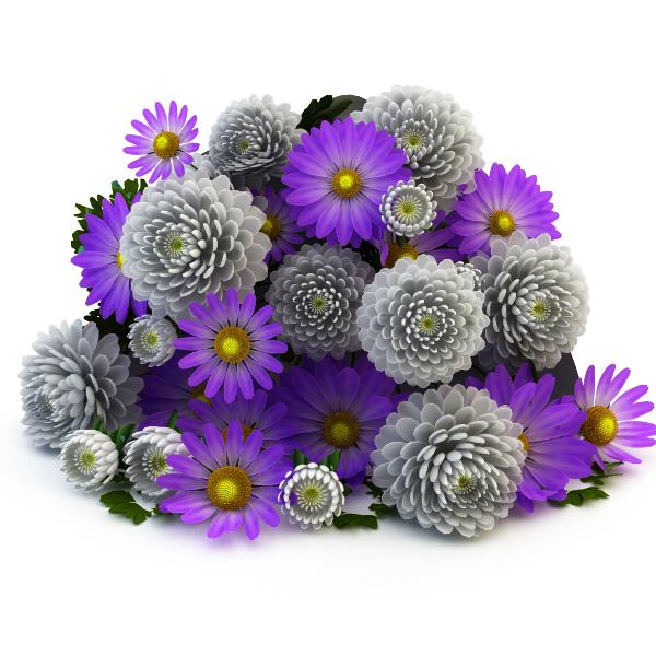 bouquet lying 3d model