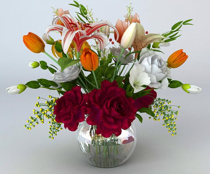 TurboSquid & Flowers in Pot