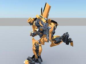 3d model bumblebee transformers -