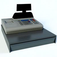 cash register 3d obj