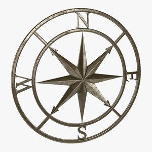 compass rose 3d model