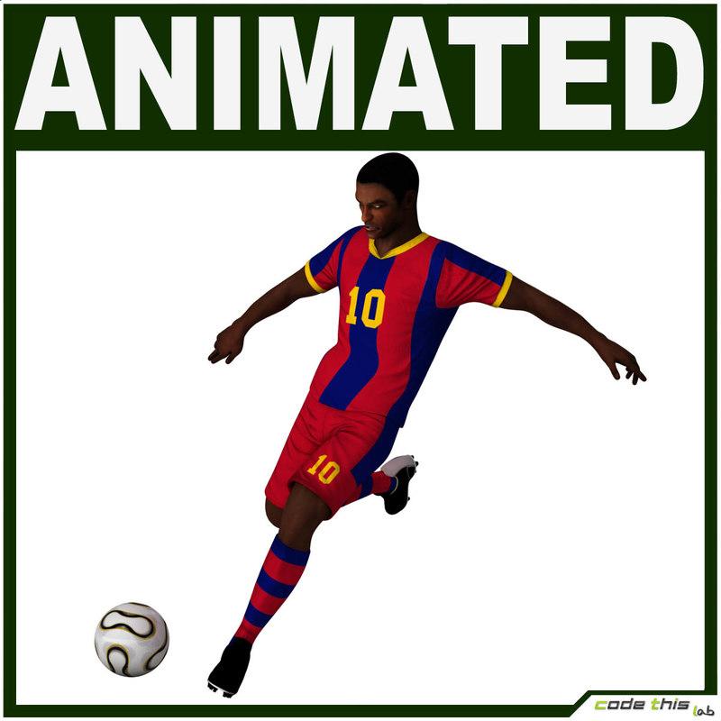 team soccer player cg 3d model