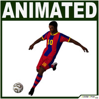 team soccer player cg 3d model