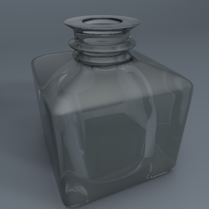3d inkwell ink model
