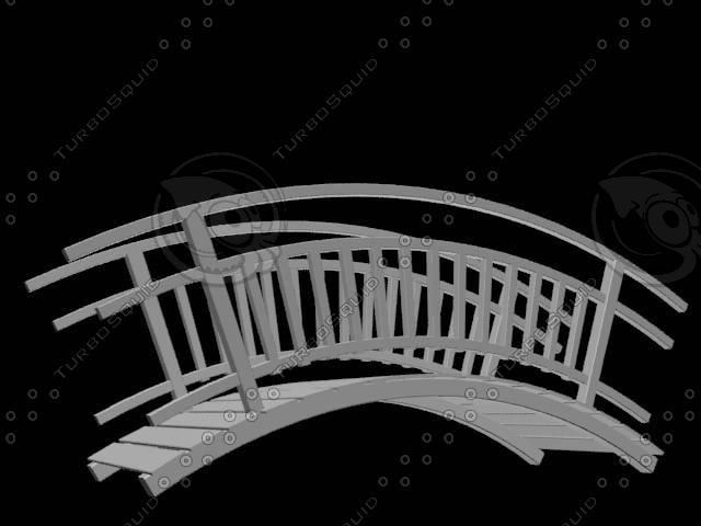 3d tahta kopru wood bridge model