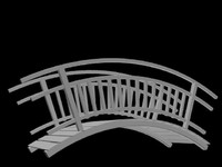 3d tahta kopru wood bridge model