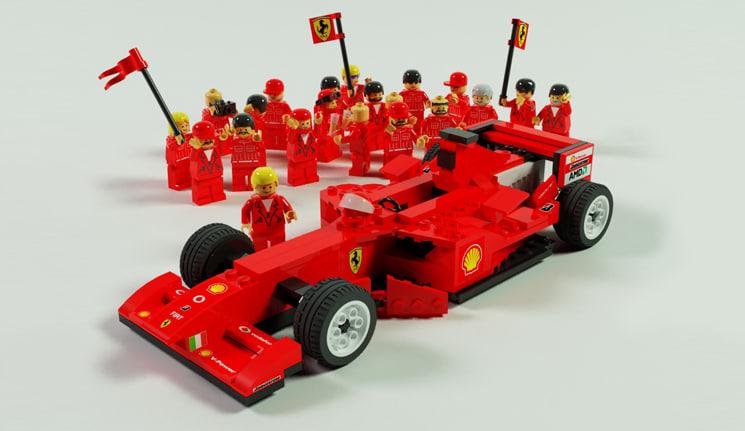 f1 car lego 8142 3d model