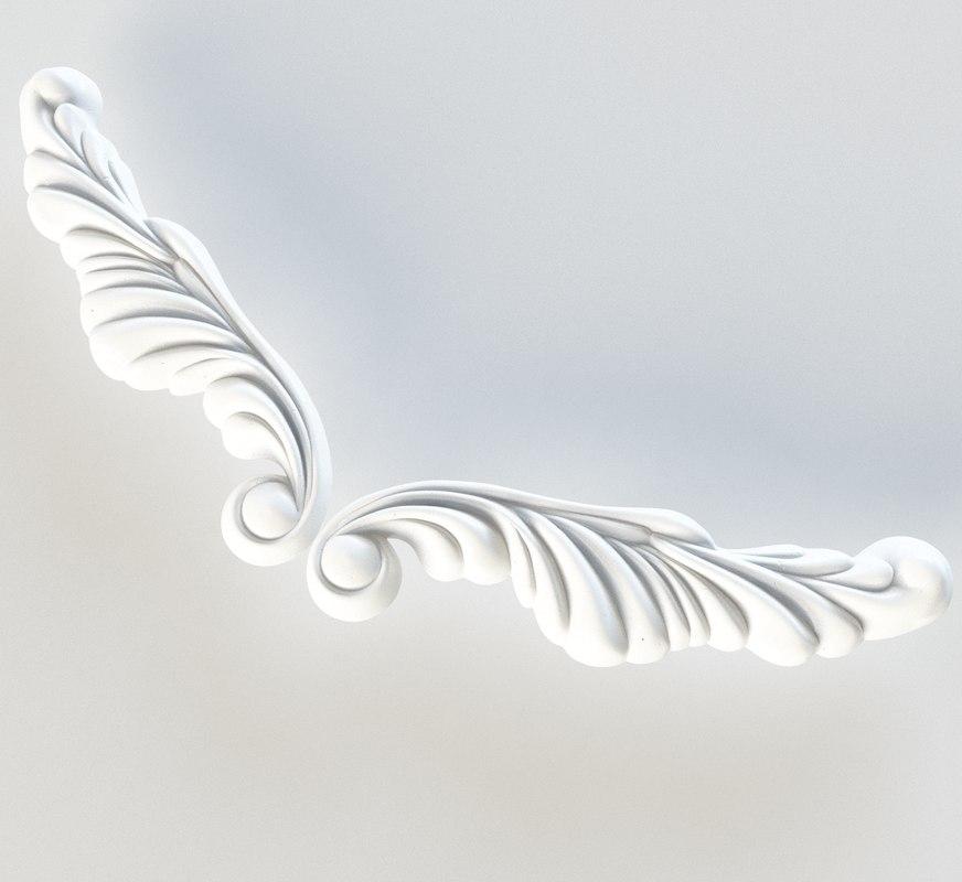 3dsmax plaster decorative element