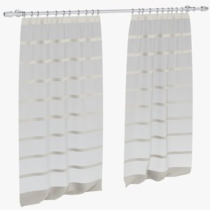 curtains 3d obj