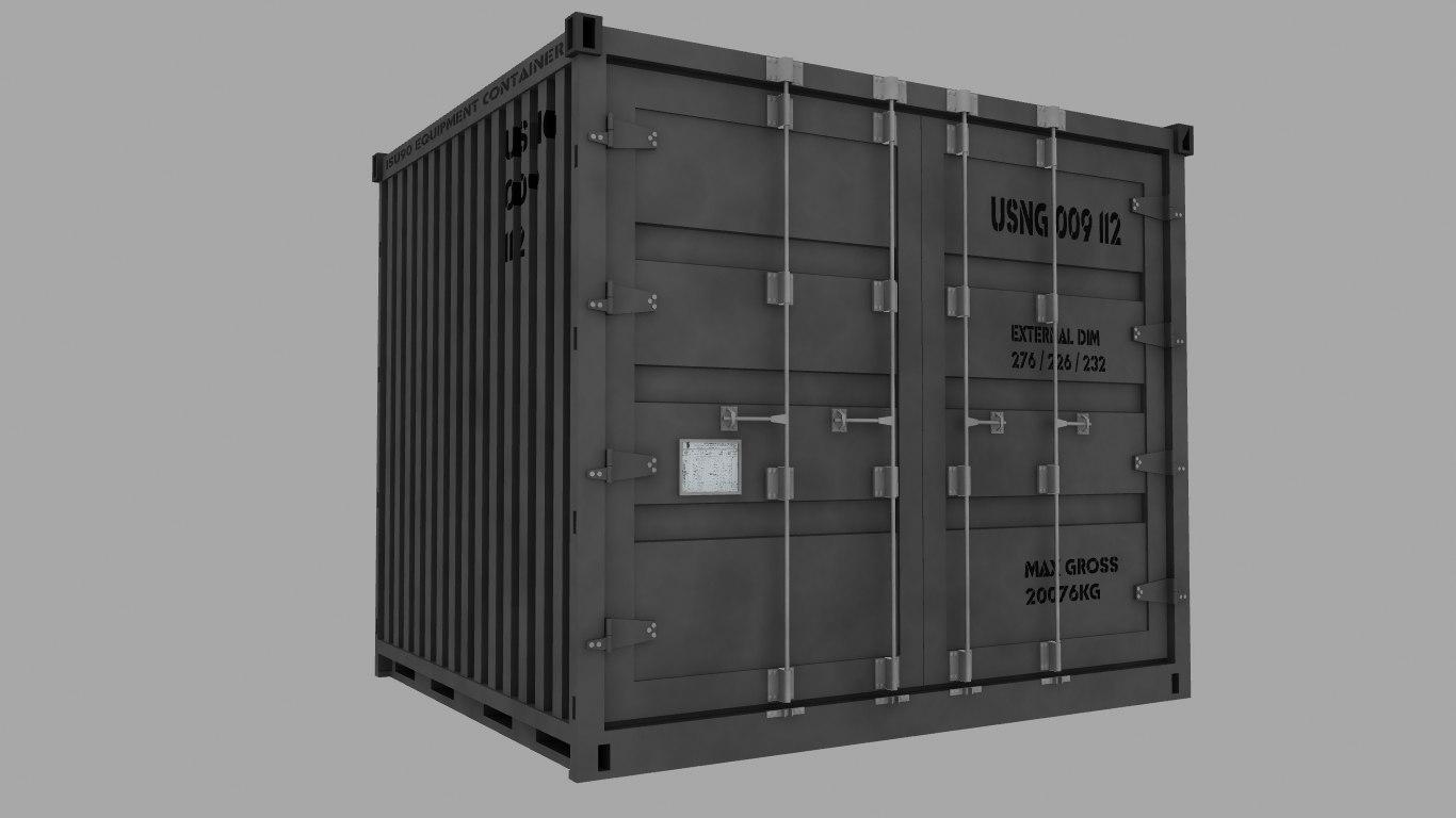 isu90 military cargo container 3d 3ds