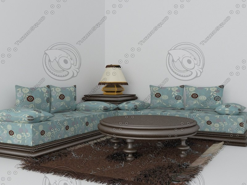 rugs pillow 3d max