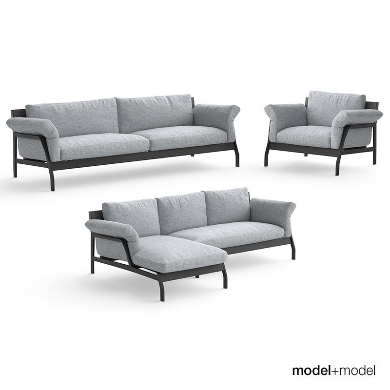 3d cassina eloro sofas armchair model