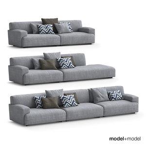 3d poliform soho sofas