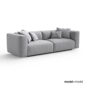 mdf italia mate sofa armchair 3d max