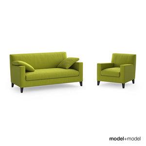free ligne roset citta sofa armchair 3d model